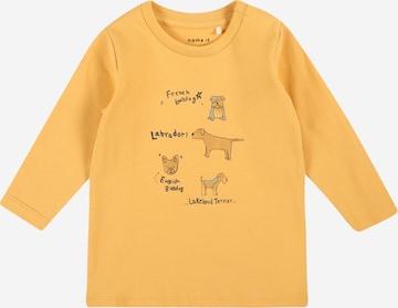 NAME IT Shirt 'KANYE' in Gelb