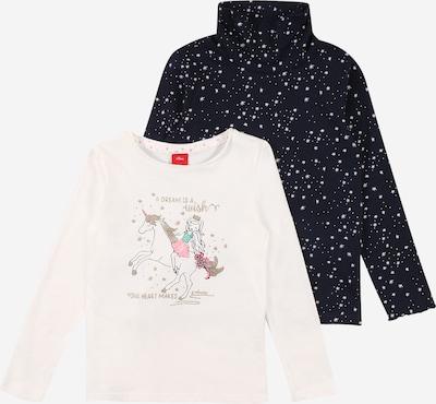 s.Oliver Shirt in türkis / nachtblau / zitronengelb / rosa / weiß, Produktansicht
