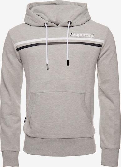 Superdry Sweatshirt in de kleur Grijs gemêleerd / Zwart / Wit, Productweergave