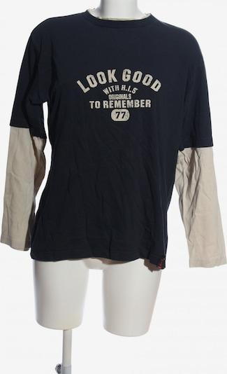 H.I.S Sweatshirt in L in schwarz / wollweiß, Produktansicht