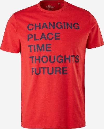 s.Oliver T-Shirt in nachtblau / rot, Produktansicht
