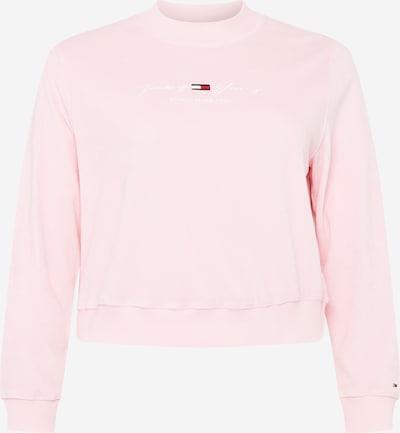 Tommy Jeans Curve Sweatshirt in dunkelblau / rosa / rot / weiß, Produktansicht