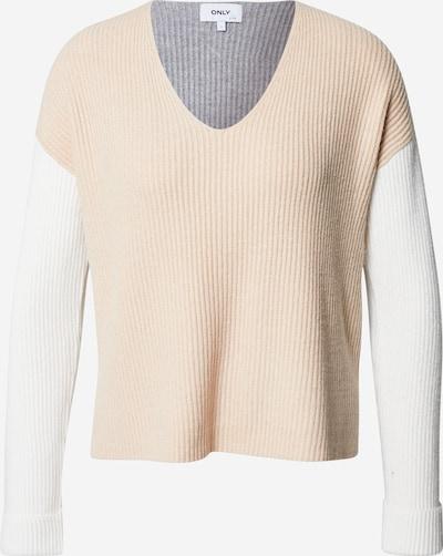 ONLY Pullover i beige / grå / hvid, Produktvisning