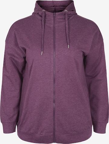 Active by Zizzi Sweatshirt 'CAESTHER' in Purple