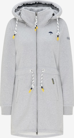 Schmuddelwedda Zip-Up Hoodie in Grey