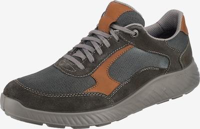 JOMOS Sneaker 'Menora' in grau / dunkelgrau / orange, Produktansicht