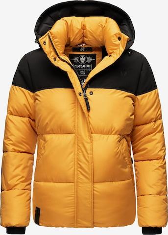 NAVAHOO Winter Jacket 'Sarafina' in Yellow