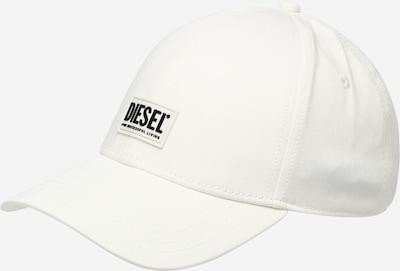 DIESEL Шапка с козирка 'CORRY' в кремаво / черно: Изглед отпред
