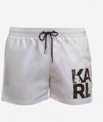 Shorts de bain Karl Lagerfeld en blanc
