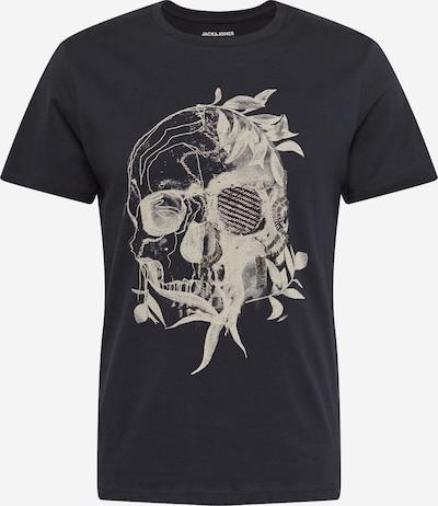 JACK & JONES Shirt 'ROSCO' in hellgrau / schwarz, Produktansicht