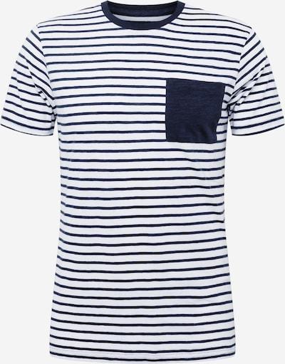 KnowledgeCotton Apparel T-shirt 'ALDER' i mörkblå / vit, Produktvy