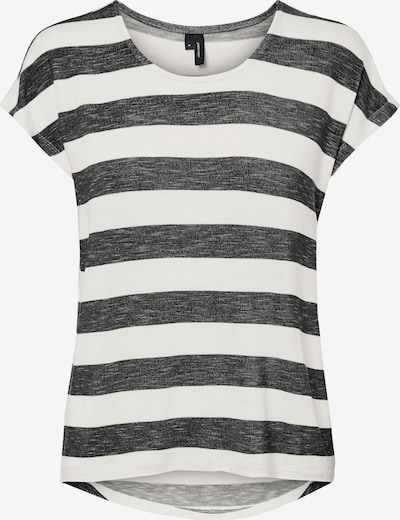 VERO MODA T-shirt 'Wide' i svartmelerad / vit, Produktvy