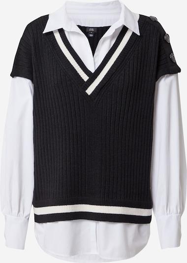 River Island Bluza u crna / bijela, Pregled proizvoda