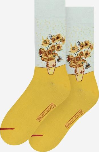 MuseARTa Sokken in de kleur Geel / Bordeaux / Wit, Productweergave