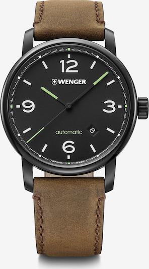 WENGER Analoog horloge in de kleur Bruin / Zwart, Productweergave
