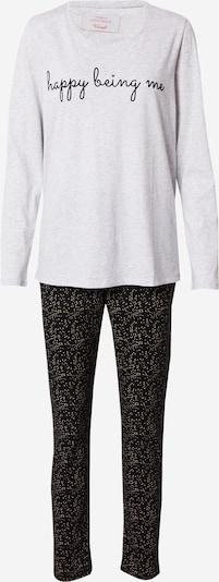 TRIUMPH Pajama in mottled grey / Black / White, Item view