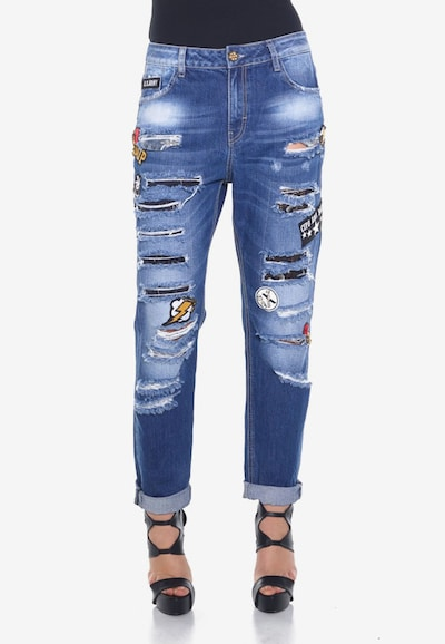 CIPO & BAXX Jeans 'Ripped' in de kleur Blauw, Modelweergave