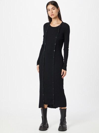DIESEL Pletené šaty 'GEORGIA' - čierna, Model/-ka