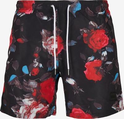 Pantaloncini da bagno Urban Classics Big & Tall di colore colori misti / nero, Visualizzazione prodotti