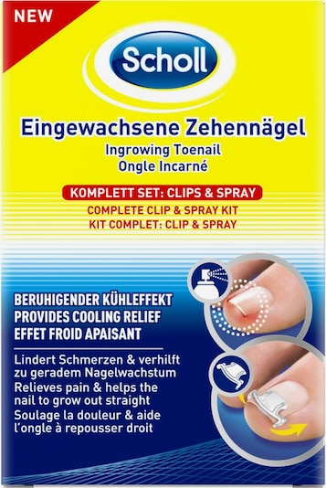 SCHOLL Fußpflege-Clips in blau / gelb / rot / weiß, Produktansicht