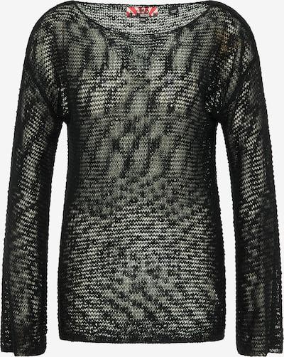 myMo ROCKS Pullover in schwarz: Frontalansicht