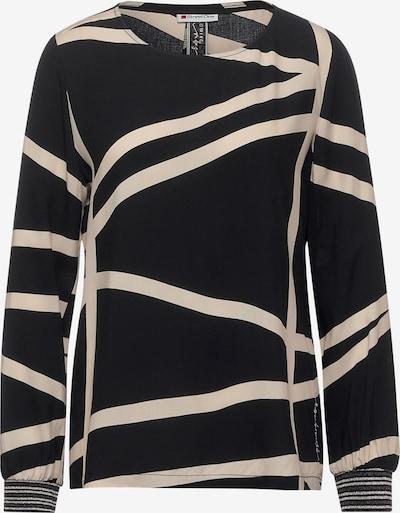 STREET ONE Bluse in beige / schwarz, Produktansicht