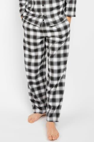 Cyberjammies Pajama Pants 'William Black Teal ' in Black