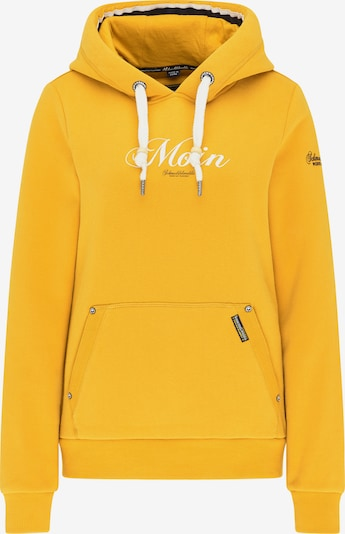 Schmuddelwedda Sweatshirt in gelb / schwarz / weiß, Produktansicht