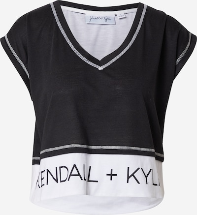 KENDALL + KYLIE Shirt in schwarz / weiß, Produktansicht