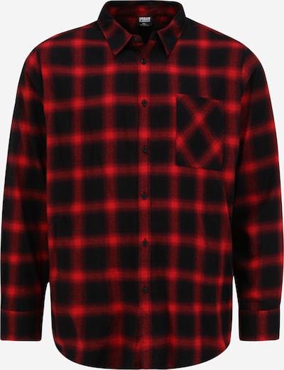 Urban Classics Big & Tall Košeľa - červená / čierna, Produkt
