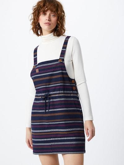 Iriedaily Dungaree skirt in Navy / Caramel / Cyclamen / White, View model