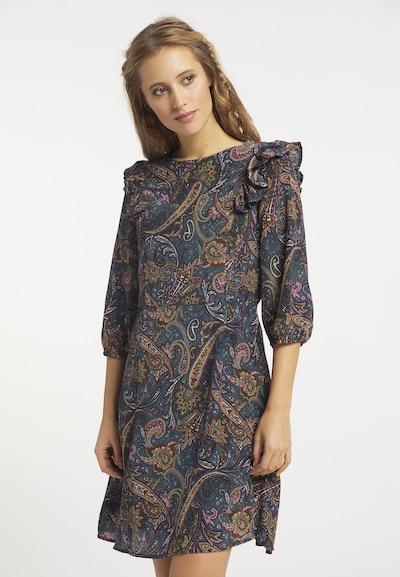 usha FESTIVAL Kleid in beige / blau / braun, Modelansicht
