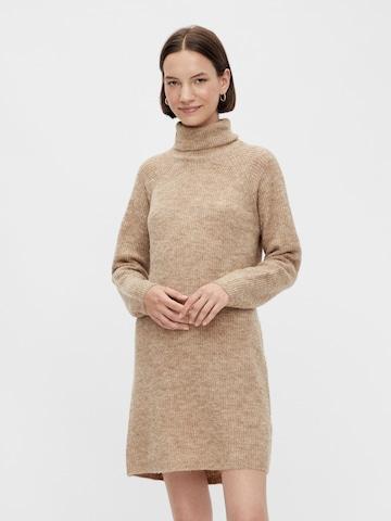 PIECES Gebreide jurk 'Ellen' in Bruin