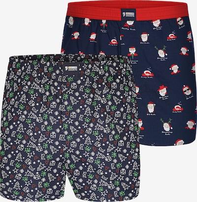Happy Shorts Boxers ' Weihnachts-Set ' en mélange de couleurs, Vue avec produit