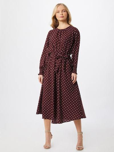 JACQUELINE de YONG Kleid 'Kaya' in bordeaux / weiß, Modelansicht