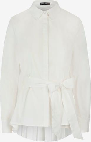 APART Oversized Bluse aus einer Baumwoll Mischung in Weiß