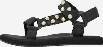 Sandale cu baretă Bianco pe negru / alb perlat, Vizualizare produs