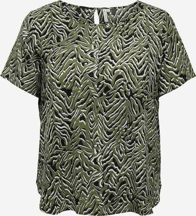 ONLY Carmakoma Bluse in grün / schwarz / weiß, Produktansicht