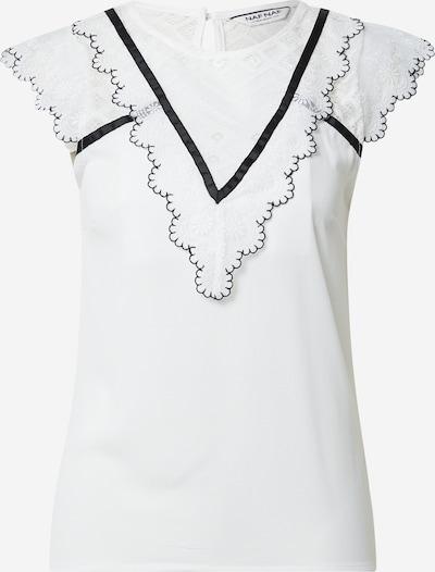 NAF NAF Bluse 'OEMILITO' in schwarz / weiß, Produktansicht