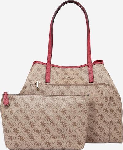 GUESS Shopper 'VIKKY' in beige / braun / rot, Produktansicht