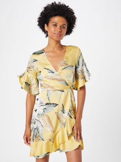 Rochie tip bluză 'DA772TS' AX Paris pe bej / albastru porumbel / galben auriu / alb, Vizualizare model