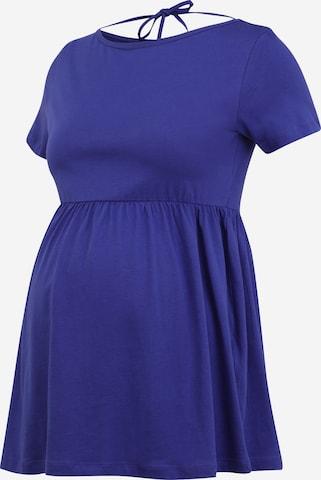 MAMALICIOUS Shirt 'HAZEL' in Blue