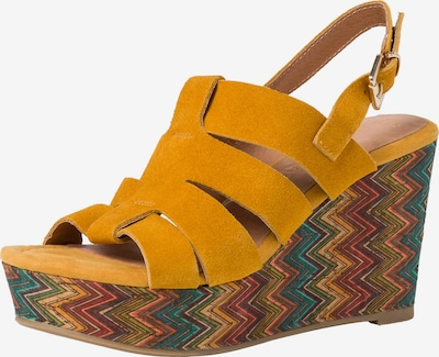 MARCO TOZZI Sandale in dunkelgelb / mischfarben, Produktansicht