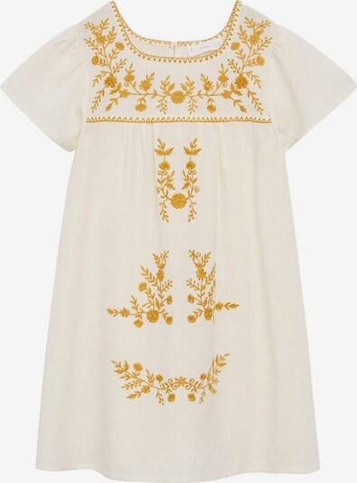 MANGO KIDS Kleid 'Mexican' in goldgelb / weißmeliert, Produktansicht