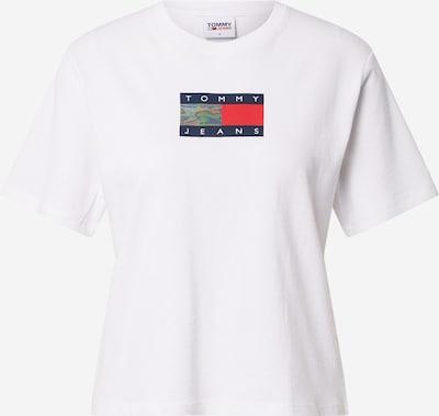 Tricou Tommy Jeans pe albastru închis / roșu / alb, Vizualizare produs