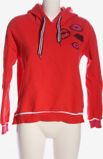 Manguun Kapuzensweatshirt in XL in pink / rot / schwarz, Produktansicht
