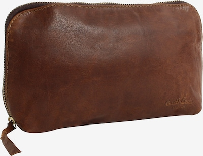 Gusti Leder Kosmetiktasche 'Eli' in braun, Produktansicht