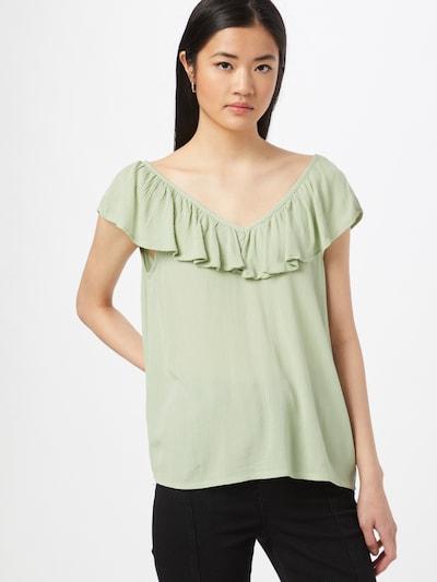 ICHI Bluse in mint, Modelansicht