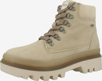 s.Oliver Lace-Up Ankle Boots in Beige