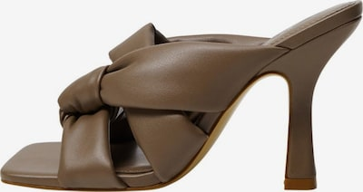 MANGO Pantolette in dunkelbraun, Produktansicht
